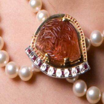 Rose Gold Flower Necklace Copy@2x